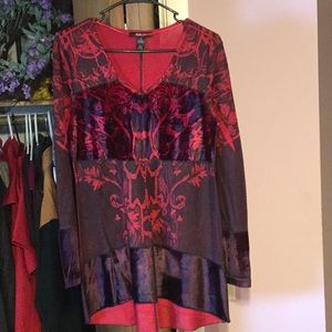Red and Black dressy tunic